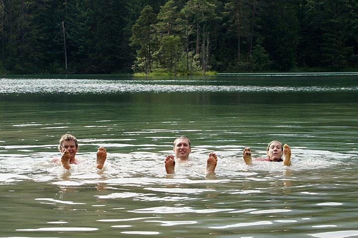 Kąpiel walpejskim jeziorze