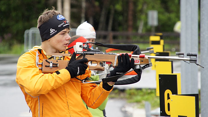 Trening biathlonistów wSeefeld