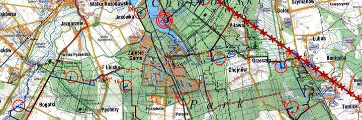 Mapa zzaznaczoną trasą mojegoprzejazdu