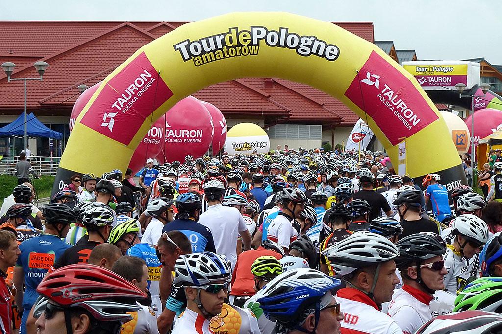 Start wyścigu Tour de Pologne Amatorów, Bukowina Tatrzańska 2014